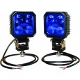 Blå LED Sprøjtelygtesæt Kramp m/ ledning