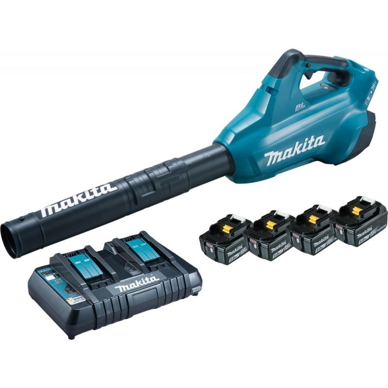 Makita DUB362PT4 Blæser m/ Batterier og Lader