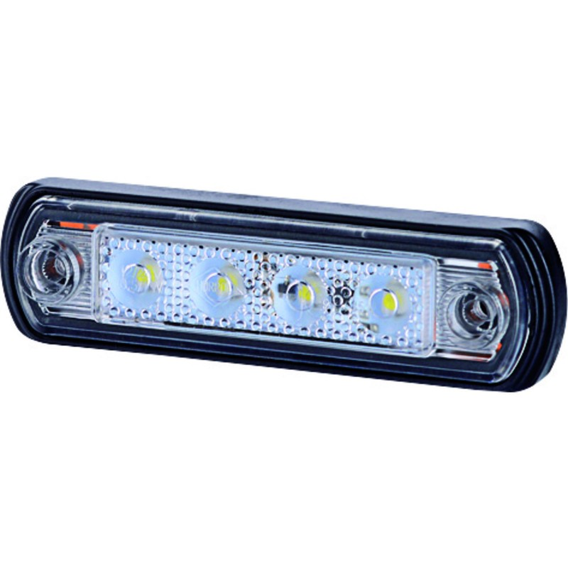 GoPart LED Bagpositionslygte HVID m/ 25cm kabel