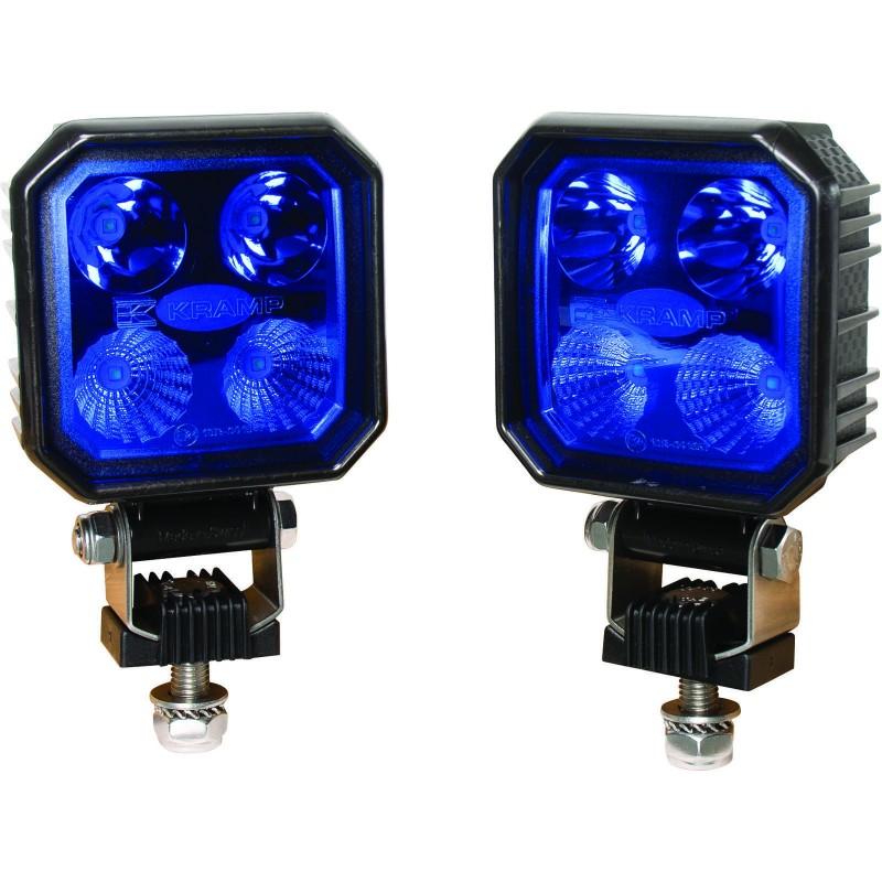 Kramp LED blå Sprøjtelygtesæt