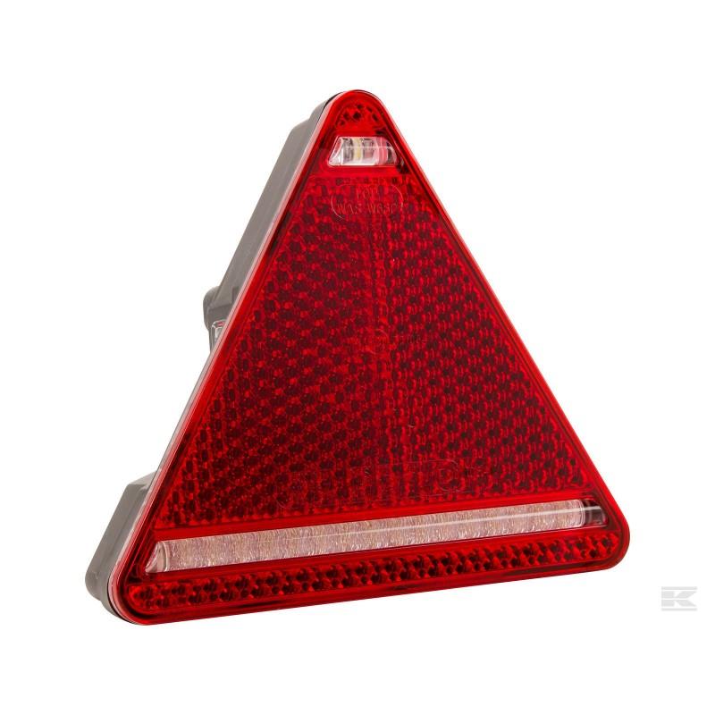 Baglygte LED med trekantrefleks 5-pin
