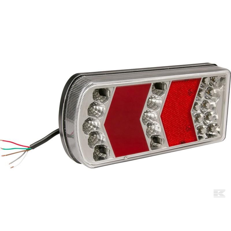 Baglygte LED - højre med ledning