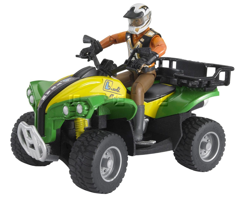 Bruder 63000 world ATV 4-hjuls crosser med kører