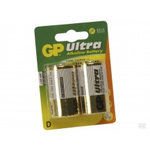 GP Ultra Batteri LR20/D 1,5V 2 stk.