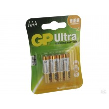 GP Ultra Batteri LR3/AAA 1,5V 4 stk
