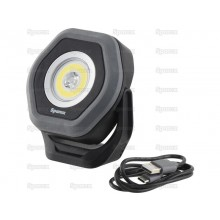 Arbejdslampe Genopladelig m/ Magnet, LED Twin Beam 1400 Lumen